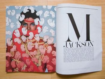 KAWS x Michael Jackson Cover for Interview Magazine