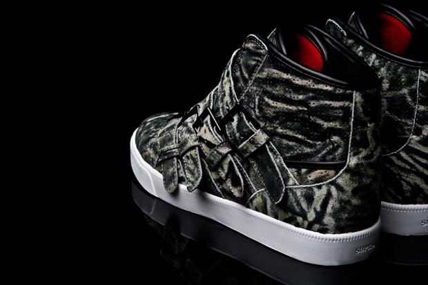 Steve Aoki x Supra Wildlife Strapped Sneakers