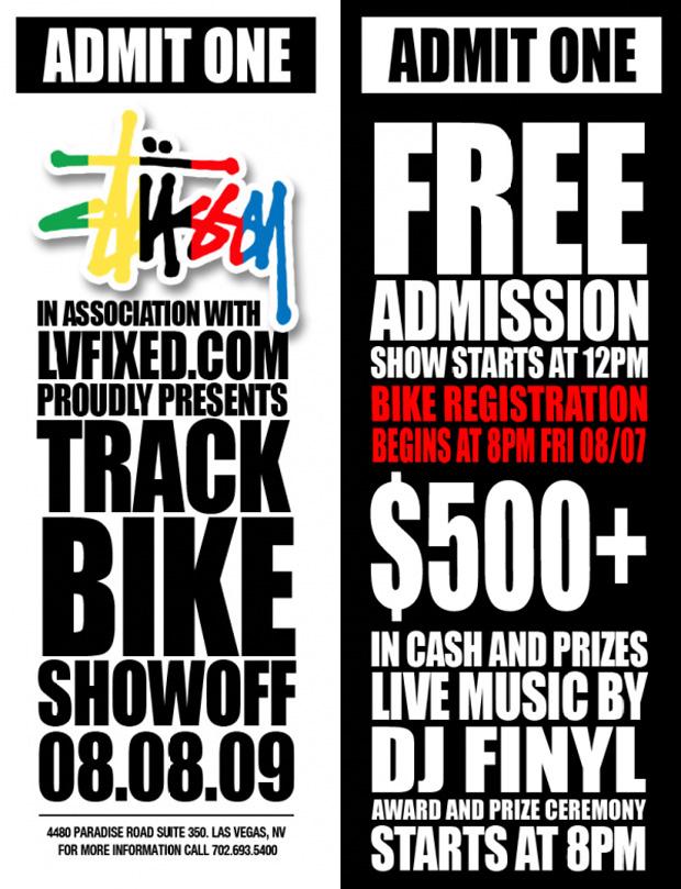 Stussy x LVFIXED.com presents Track Bike Showoff