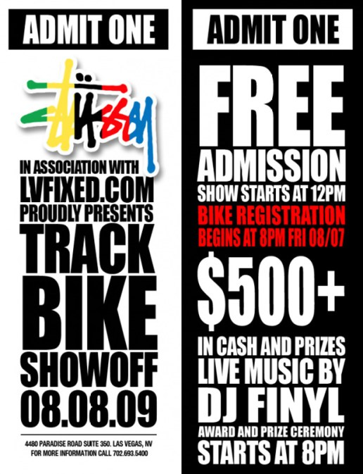 Stussy x LVFIXED.com presents Track Bike Showoff