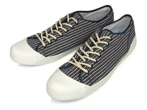 YMC Striped Plimsole Canvas Shoe