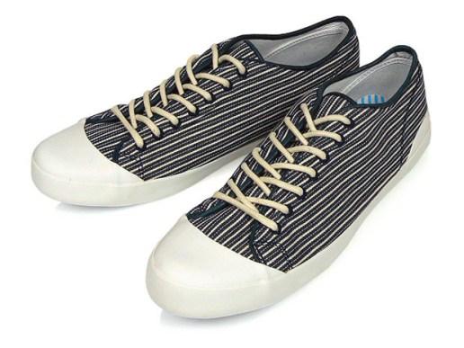 YMC Striped Plimsole Canvas Shoe