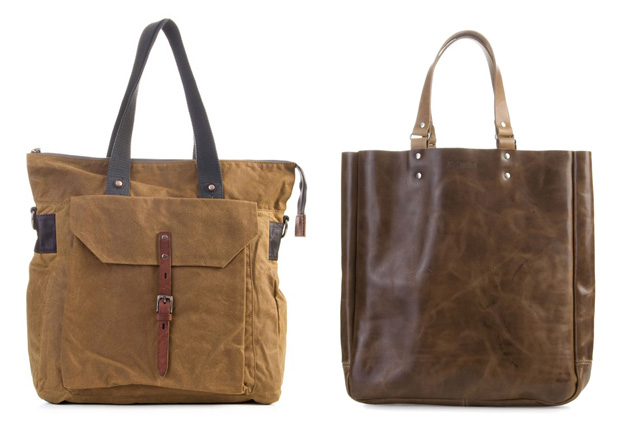 Ally Capellino Leather & Waxed Cotton Tote Bags