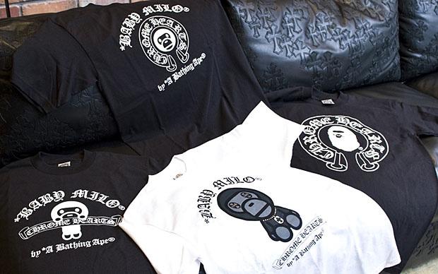 A Bathing Ape x Chrome Hearts T-shirts