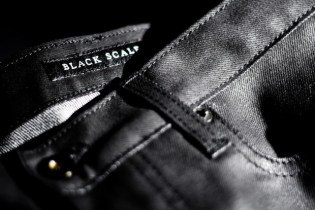 Black Scale Waxed Denim Preview