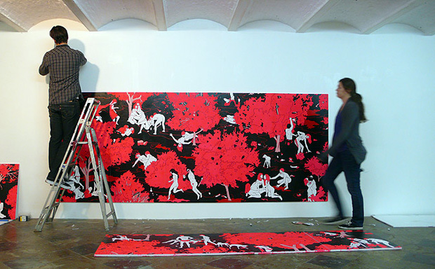 """Cleon Peterson """"Unconsoled"""" Exhibition Brussels"""