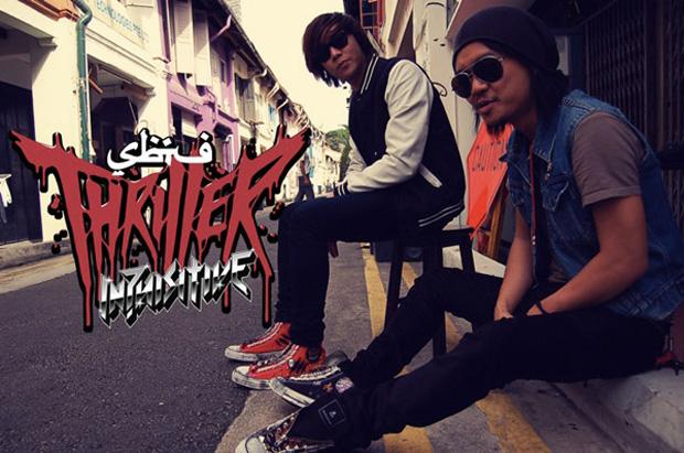 "Converse Chuck Taylor ""Thriller"" Customs by SBTG & DJ Inquisitive"