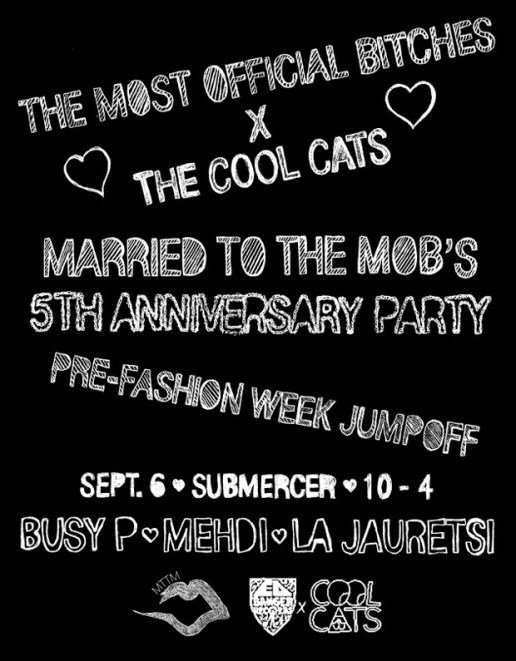 Cool Cats x Married to the Mob 5th Anniversary Party