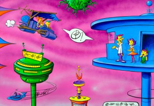 Kenny Scharf Barberadise Exhibition
