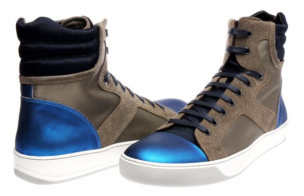 Lanvin Metallic Blue High Tops