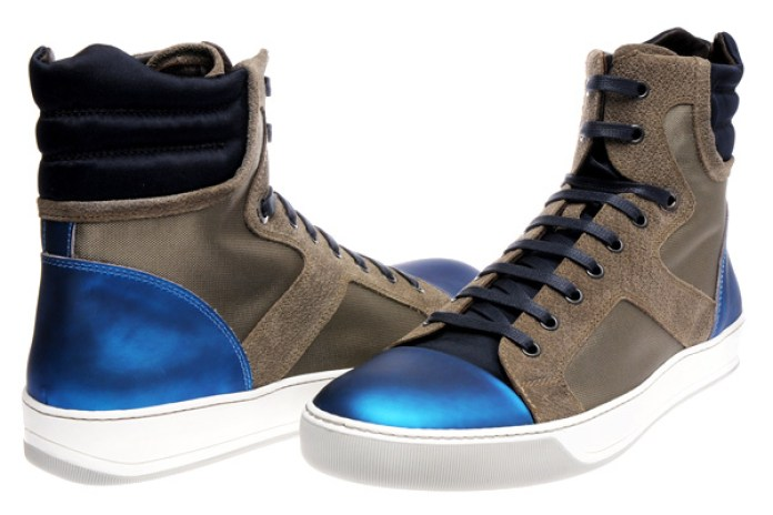 Lanvin Metallic Blue High Tops