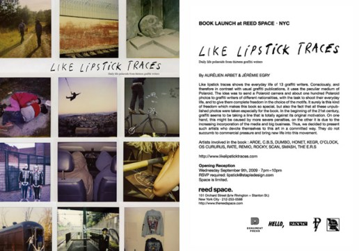 Like Lipstick Traces: Daily Life Polaroids from Thirteen Graffiti Writers Book Launch