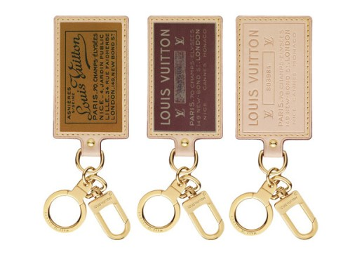 Louis Vuitton Labels Key Rings