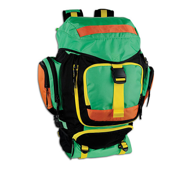 Nike SB Eugene Backpack Black/Green/Yellow