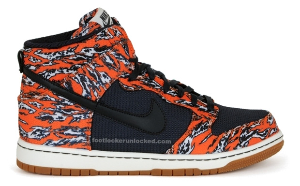 "Nike Sportswear Dunk High ""Tiger Camo"" Preview"