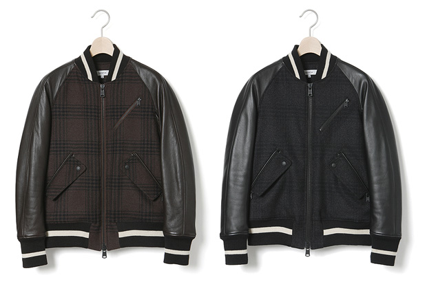 nonnative Leather Wool Student Jacket