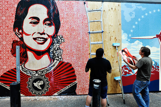 Shepard Fairey Supply and Demand Murals