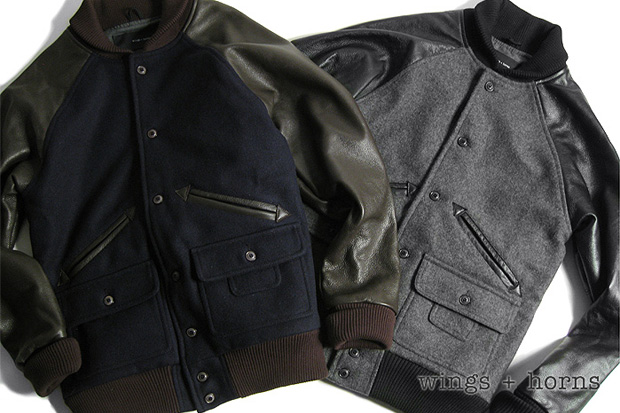 Wings + Horns Melton Wool Award Varsity Jacket