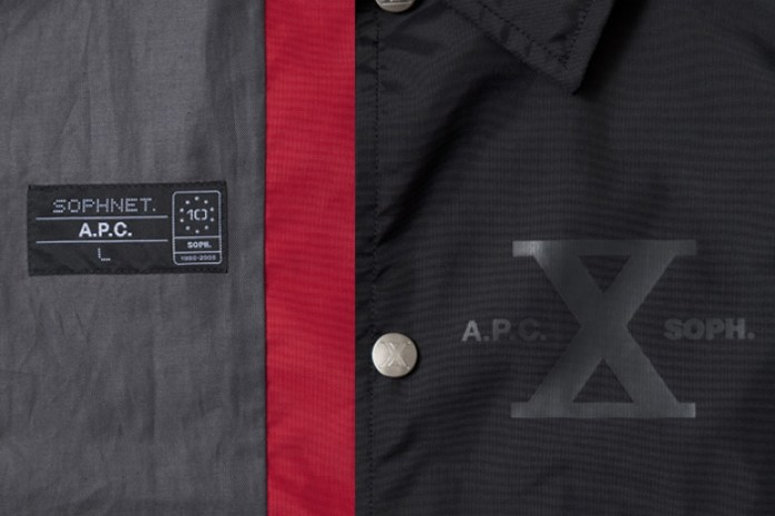 A.P.C. x SOPH. 10th Anniversary Coach Jacket