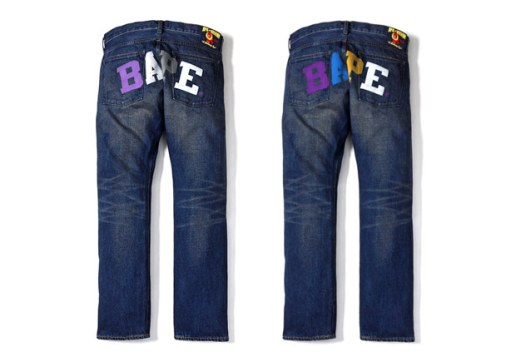 A Bathing Ape LA & NYC Color Print Denim