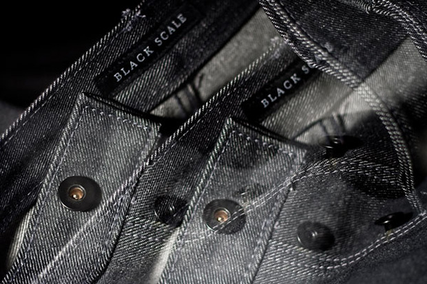 Black Scale Charcoal Denim