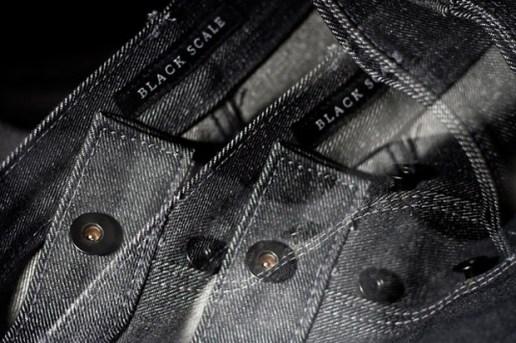 Black Scale Charcoal Denim