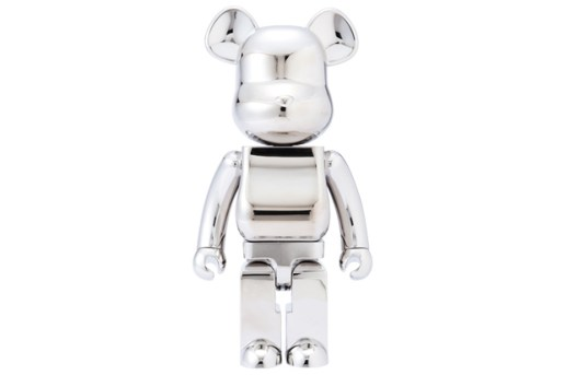 THE BLACK SENSE MARKET x MEDICOM TOY 1000% Stainless Steel Bearbrick
