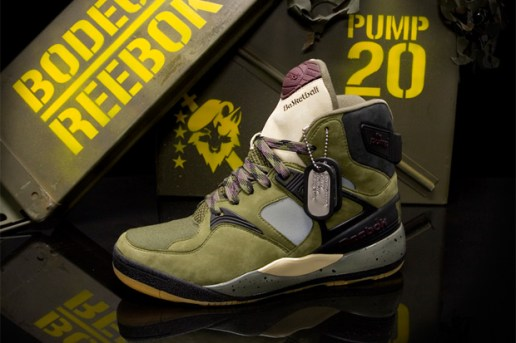 Bodega x Reebok Pump 20th Anniversary Sneakers