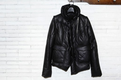 Diet Butcher Slim Skin Goatskin Blouson Down Jacket