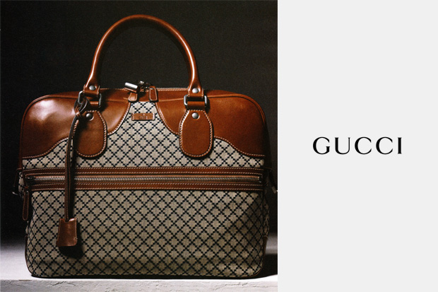 Gucci Blue Diamante Fabric Duffle