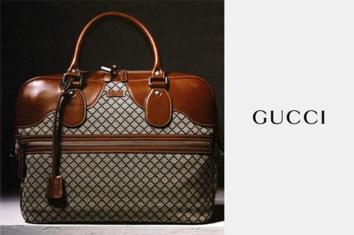 Gucci Blue Diamante Fabric Duffle