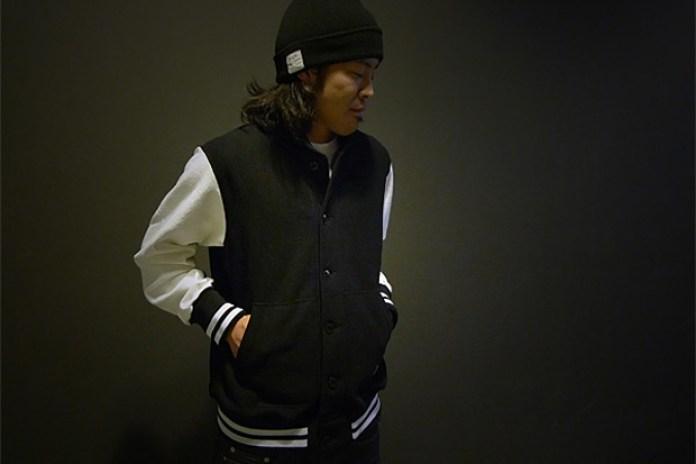 HAVEN x Reigning Champ Fleece Varsity Jacket