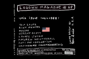 Lodown Magazine Issue 68 featuring Tom Sachs