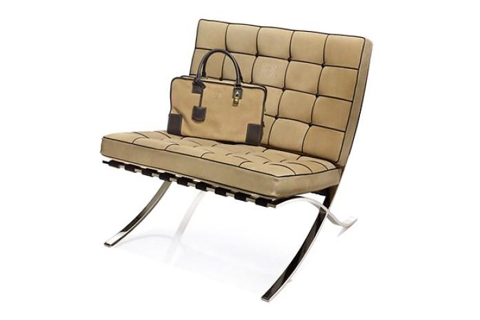 Loewe Amazona x Barcelona Chair