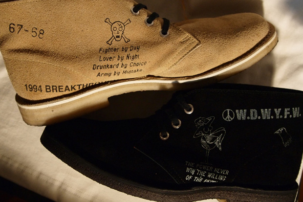 "NEIGHBORHOOD x Clarks ""W.D.W.Y.F.W"" Desert Boots"