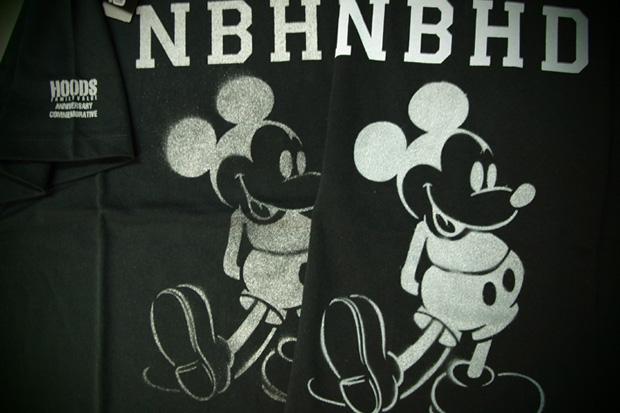 """HOODS Nagoya & Fukuoka """"Mickey Mouse"""" NEIGHBORHOOD Anniversary Tees"""