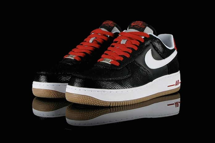 Nike Air Force 1 Low Black/White/Red/Gum