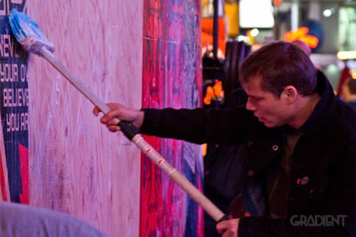 Shepard Fairey Obey Collaboration With Levi's Times Square Event