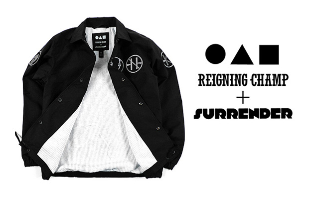 Surrender x Reigning Champ Thermal Lined 3XDRY Coaches Jacket