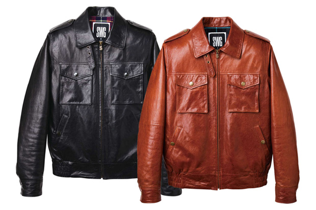 swagger Flight Leather Jacket