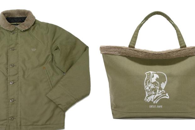 URSUS BAPE Olive Drab Blouson Jacket & Tote Bag
