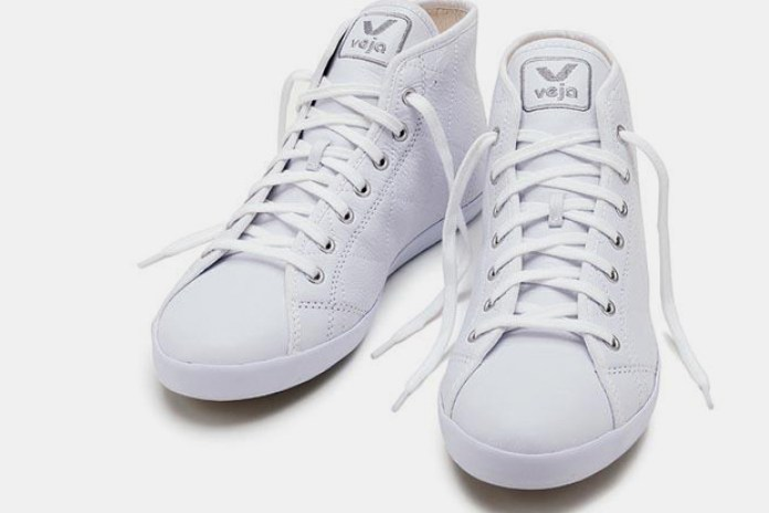 "Veja Footwear ""The Grid"" Leather Sneakers"