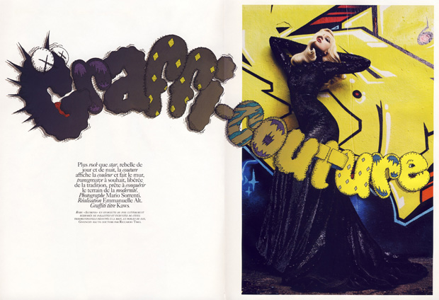"Vogue Paris November 2009 ""Graffi-Couture"" Photoshoot featuring KAWS"