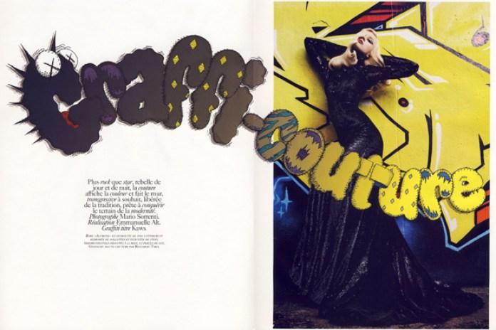 "Vogue Paris November 2009 ""Graffi-Couture"" Photoshoot featuring KAWS"