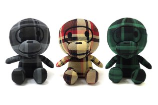 A Bathing Ape Bapecheck Baby Milo Toy