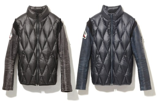 AFFA Quilted Leather Down Jacket