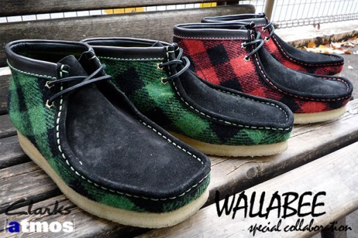 atmos x Clarks Buffalo Plaid Wallabee Pack