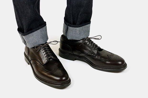 Blackbird x Alden Short Wingtip Blucher