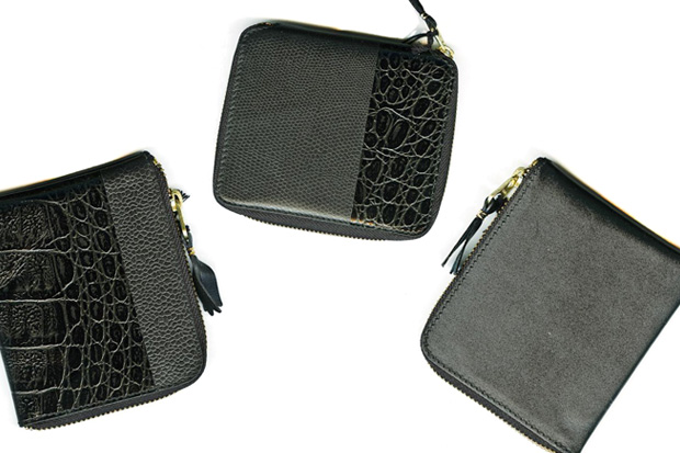 COMME des GARCONS Mixed Embossed Reptile Wallet Collection