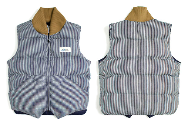Crescent Down Works Hickory Stripe Vest